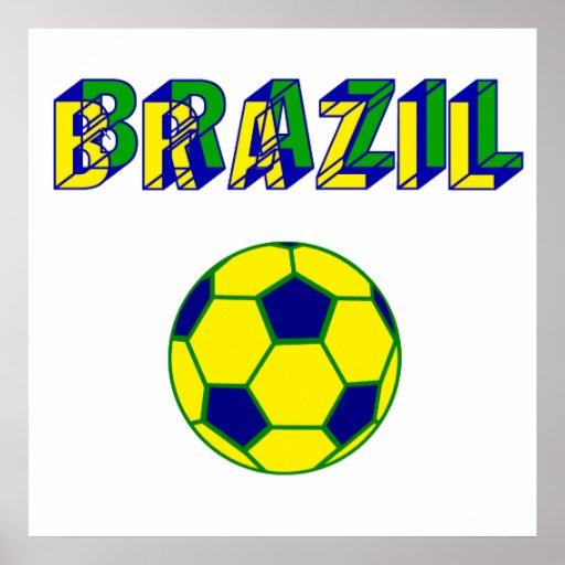 Brasil Soccer ball futebol Brasileiro gifts Print