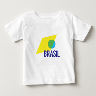 Brasil Stylish Flag Baby T-Shirt