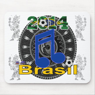 BRASIL WORLCUP MUSIC GIFTS CUSTOMIZABLE MOUSE PADS