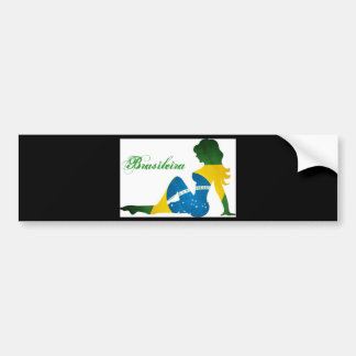 Brasileira Car Bumper Sticker