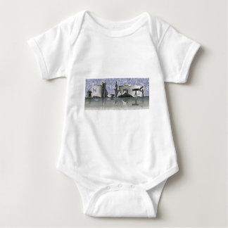 Brasilia city skyline shirts