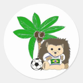 Brasilian HedgeHog Classic Round Sticker