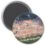 Brasov aerial 7.5 cm round magnet