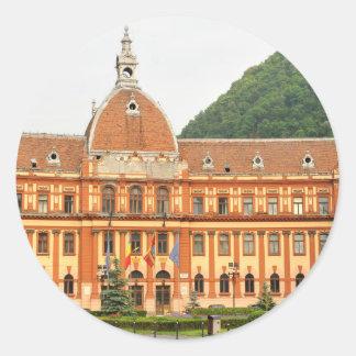 Brasov in Transylvania, Romania Classic Round Sticker