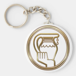 Brass and Copper Aquarius Key Chains