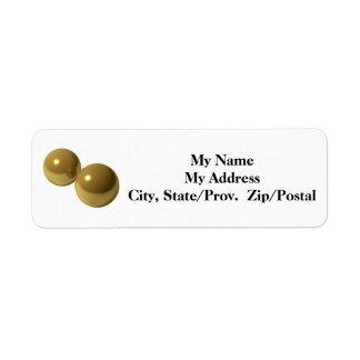 Brass Balls Label Return Address Label