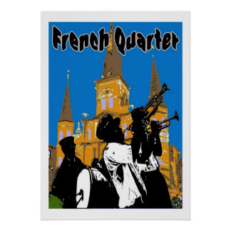 Brass Band French Quarter Poster