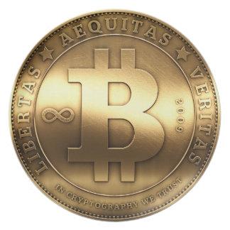 Brass Bitcoin Plate