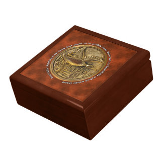 Brass Button low flying duck Large Square Gift Box