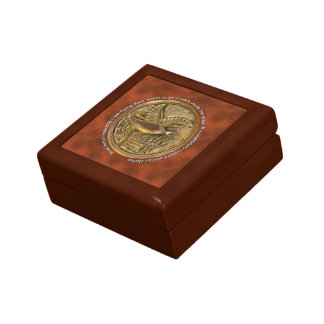 Brass Button low flying duck Small Square Gift Box