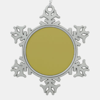 Brass Classic Colored Pewter Snowflake Decoration
