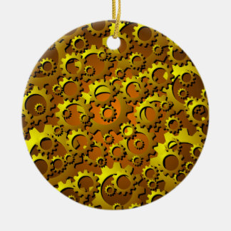 Brass Copper Cogs and Gears Ornament