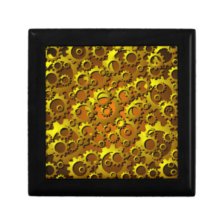 Brass Copper Cogs and Gears Tile Gift Box