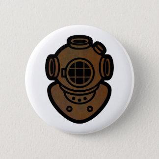 Brass Diving Helmet 6 Cm Round Badge