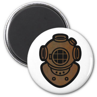 Brass Diving Helmet Magnet