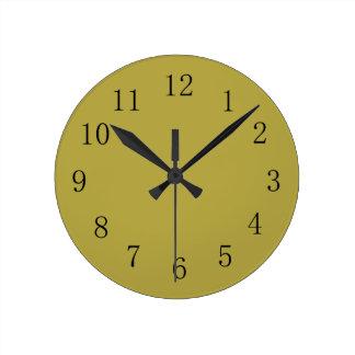 Brass Green Wall Clock