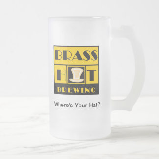 Brass Hat Brewing Glass Beer Mug #1