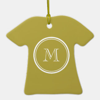 Brass High End Colored Monogrammed Ornament