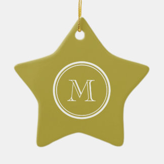Brass High End Colored Monogrammed Christmas Tree Ornament