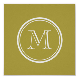 Brass High End Colored Monogrammed Posters