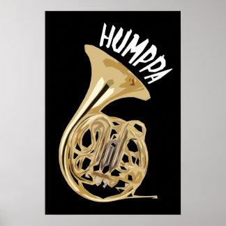 Brass Humppa Dark Poster or Print
