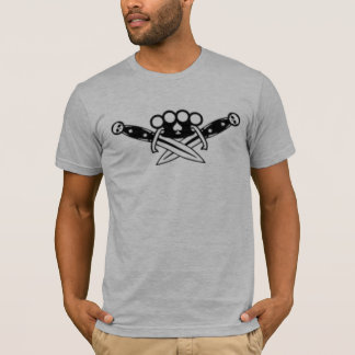 Brass Knuckles and Daggers gray fitted mens tshirt