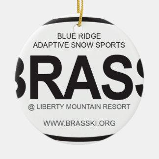 BRASS Oval Logo Round Ceramic Decoration