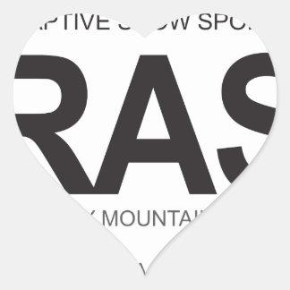 BRASS Oval Logo Heart Sticker