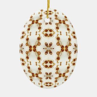 Brass Pierced Circuits Kaleidoscope Mandala Christmas Ornament