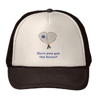 Brass Racquetball Trucker Hats