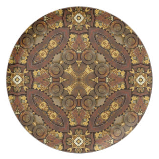 Brass Steampunk Inspired Decorative Plate