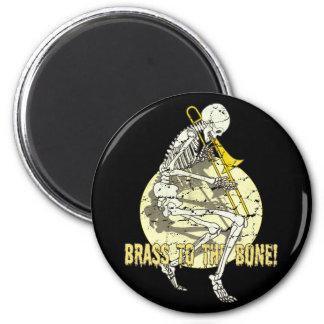 Brass To The Bone 6 Cm Round Magnet