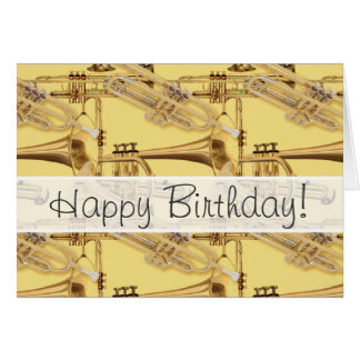 Brass Trumpet Pattern Card