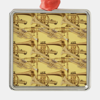 Brass Trumpet Pattern Christmas Ornaments