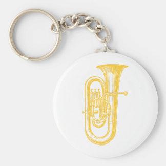 """Brass"" Tuba Key Ring"