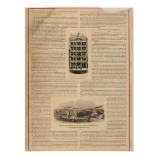Brass Works of the Scovill Manufacturing Company Poster
