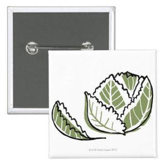 Brassica Oleracea 15 Cm Square Badge