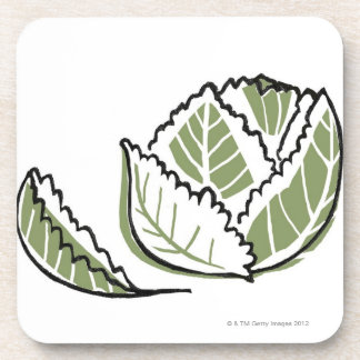 Brassica Oleracea Beverage Coaster