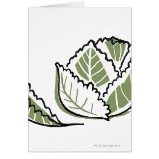 Brassica Oleracea Greeting Card