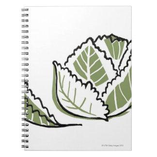 Brassica Oleracea Spiral Note Book