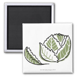 Brassica Oleracea Refrigerator Magnet