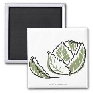 Brassica Oleracea Square Magnet