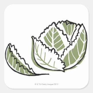 Brassica Oleracea Square Sticker