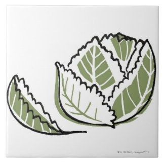 Brassica Oleracea Large Square Tile