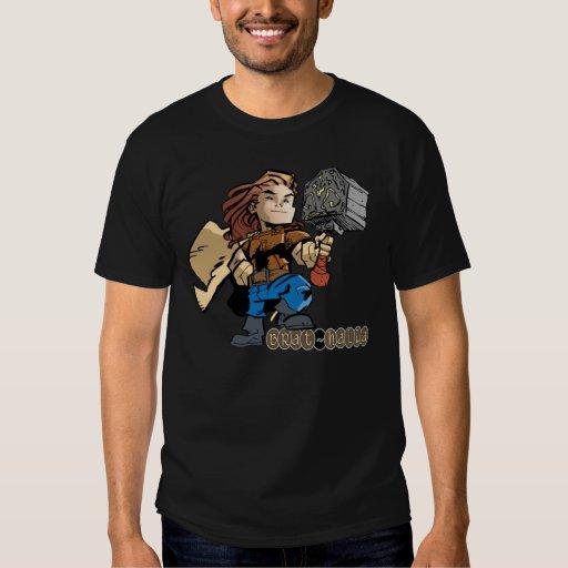 Brat-halla Thor with Mjollnir Shirt