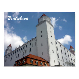 bratislava castle slovakia postcard