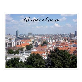 bratislava city border postcard