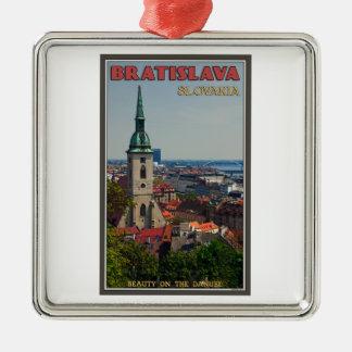 Bratislava Cityscape Christmas Ornament