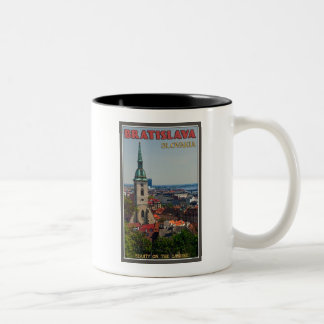 Bratislava Cityscape Two-Tone Coffee Mug