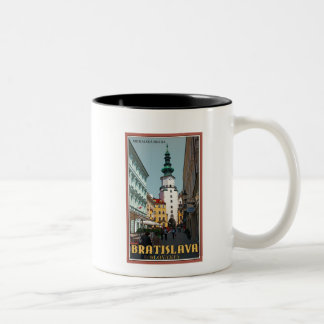 Bratislava - Michael's Tower Two-Tone Coffee Mug